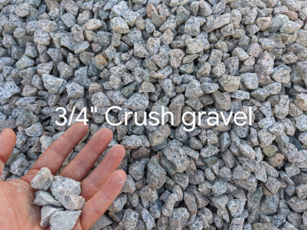 Crush Gravel in 3/4 inch size with free delivery to Coquitlam