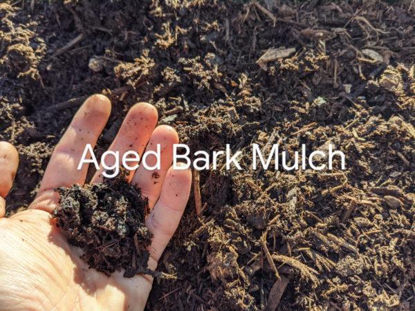 Semi-Aged 3/8 Inch Minus Bark Mulch composting mulch delivery to Maple Ridge