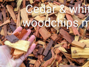 Cedar & White Mix Wood Chips delivered to home in Surrey