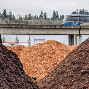 Wood chips and bark mulch delivery in Lower Mainland